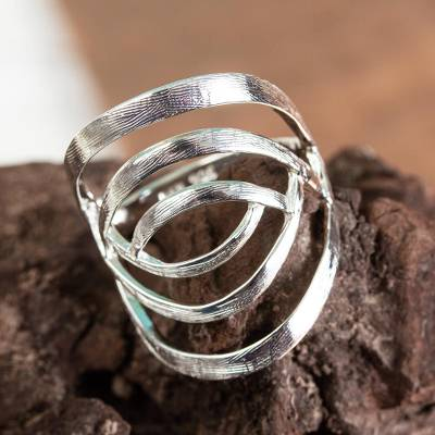 om ring silver eternity lyrics - Taxco Sterling Silver Modern Cocktail Ring