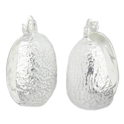 Taxco Silver Handcrafted Hoop Earrings
