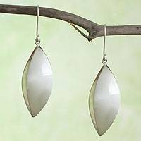 Sterling silver dangle earrings, 'Taxco Light' - Taxco Silver Jewelry Handcrafted Earrings