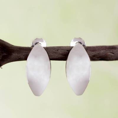Sterling silver half hoop earrings, Shine