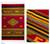 Zapotec wool rug, 'Golden Diamonds' (5x8) - Handwoven Zapotec Red Wool Rug with Diamond Motifs (5x8) (image 2) thumbail