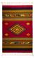 Zapotec wool rug, 'Golden Diamonds' (5x8) - Handwoven Zapotec Red Wool Rug with Diamond Motifs (5x8) thumbail