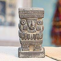 Ceramic statuette, 'Goddess Chalchiuhtlicue' - Collectible Aztec Ceramic Statuette Museum Replica
