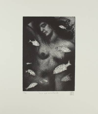 'What I Don't Understand' - Black and White Nude Etching Print