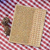 Natural fibers journal cover, 'Natural Mexico' - Handcrafted Natural Fibers Journal Cover