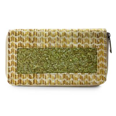 Natural fibers wallet, 'Mexican Nature' - Hand Crafted Natural Fibers Wallet