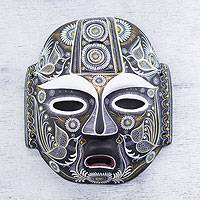Ceramic mask, 'Nocturnal Feast' - Original Artisan Crafted Ceramic Mask