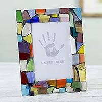 Stained glass photo frame,