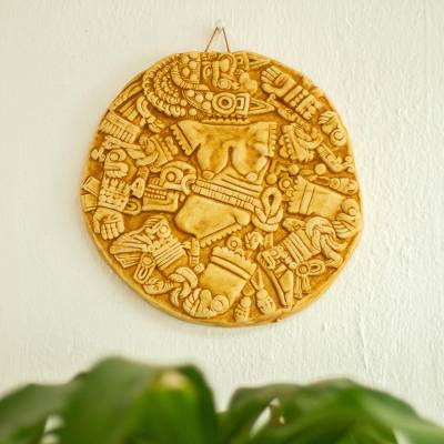 Ceramic plaque, Aztec Moon Goddess