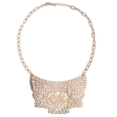 Ornate Mexican Rose Gold Plated Choker