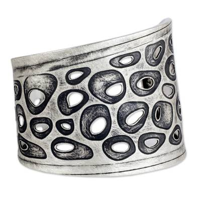 Surreal Sterling Silver Cuff Bracelet