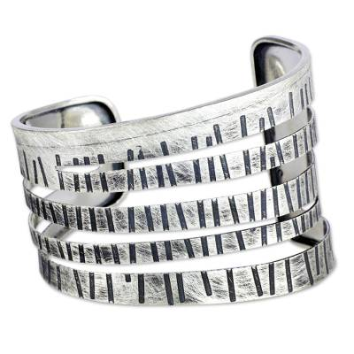 Unique Sterling Silver Cuff Bracelet