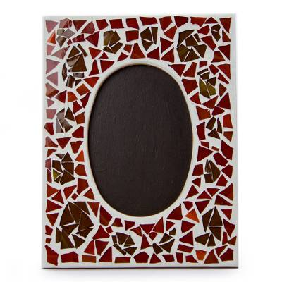Artisan Crafted Glass Mosaic Photo Frame (4x6)