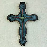 Steel wall art, 'My Cross'