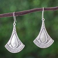 Sterling silver dangle earrings, 'Mexican Fantasy' - Artisan Crafted Sterling Silver Taxco Earrings