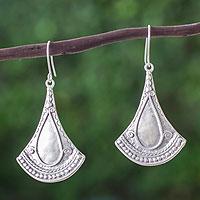 Sterling silver dangle earrings, 'Mexican Fantasy' - Artisan Crafted Sterling Silver Taxco Earrings