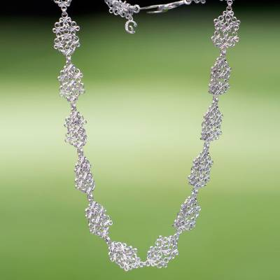 Sterling silver link necklace, Versailles