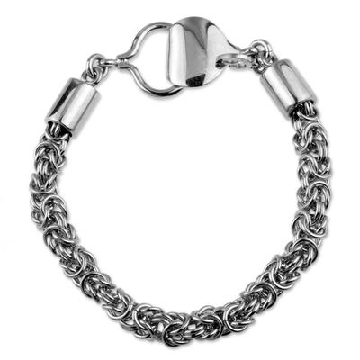 Chain Mail Link Bracelet Byzantine Style Hand Made Jewelry