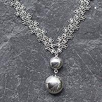 Sterling silver pendant necklace, 'Verona'