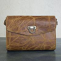 Leather flap shoulder bag Diva Mexico