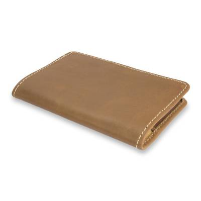 Honey Brown Leather Passport Case Handcrafted in Mexico