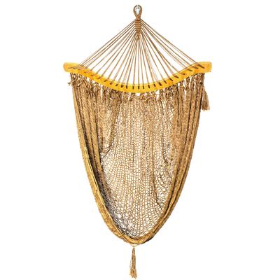 Handwoven Bronze Nylon Maya Hammock Swing