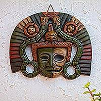 Ceramic mask, 'Aztec Duality' - Life and Death Pre-Hispanic Mask Ceramic Replica