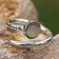 Men's sterling silver wrap ring, 'Nail It' - Artisan Crafted Polished Taxco Silver Wrap Ring for Men