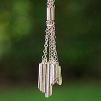 Sterling silver pendant necklace, 'Pipe Organ' - Mexican Taxco Silver Artisan Crafted Pendant Necklace