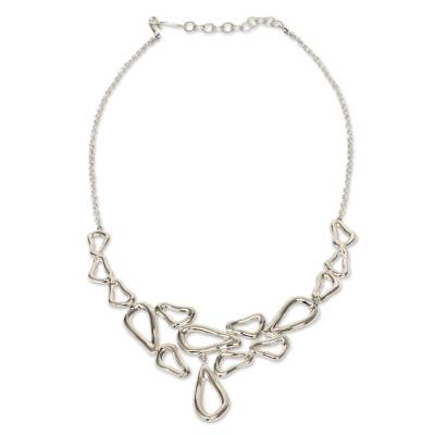 Taxco Sterling Silver Modern Free Form Handcrafted Necklace