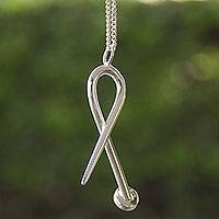 Men's sterling silver necklace, 'Urban' - Men's Taxco Sterling Silver Artisan Crafted Necklace