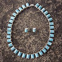 Larimar jewelry set,