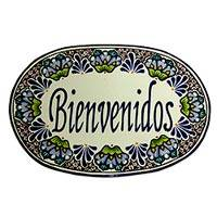 Ceramic welcome sign, 'Bienvenidos' - Authentic Mexican Talavera Style Ceramic Welcome Sign