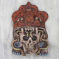 Ceramic mask, 'Jaguar Warrior Spirit' - Mexican Aztec Jaguar Warrior Ceramic Mask