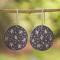 Sterling silver dangle earrings, 'Taxco Night' - Taxco Silver Handcrafted Dangle Earrings from Mexico