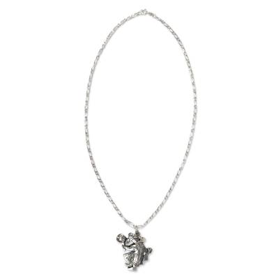 Original Sterling Silver Necklace with Pendant from Mexico