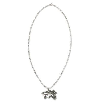 Sterling Silver Necklace with Traditional Mexican Dancer