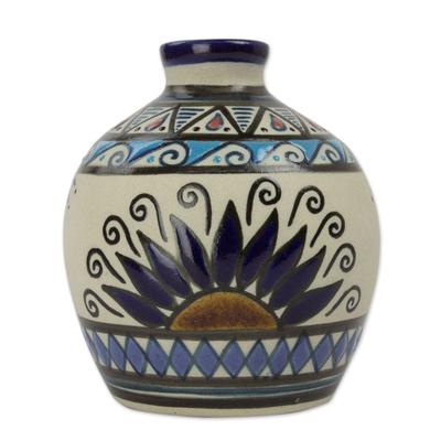 petite artisan crafted mexican ceramic bud vase planting dahlias novica. Black Bedroom Furniture Sets. Home Design Ideas