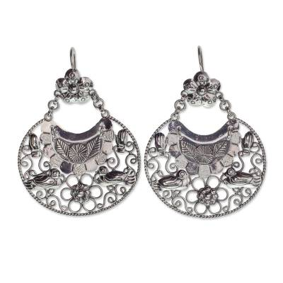 Sterling Silver Artisan Crafted Earrings from Taxco