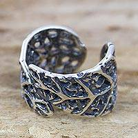 Sterling silver wrap ring, 'Tapalpa Foliage' - Sterling Silver Handcrafted Ring from Mexico