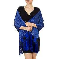 Cotton blend rebozo shawl,