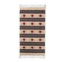 Zapotec wool rug, 'Stars Over Zaachila' (2.5x5) - Handwoven Multi-Color Authentic Zapotec Rug (2.5 x 5)