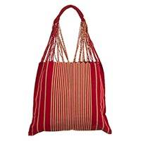 Handwoven cotton tote bag, 'Fiery Abstraction' (Mexico)