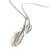 Sterling silver wrap necklace, 'Taxco Desire' - Leaf Pendants on Long Sterling Silver Necklace from Taxco (image 2d) thumbail