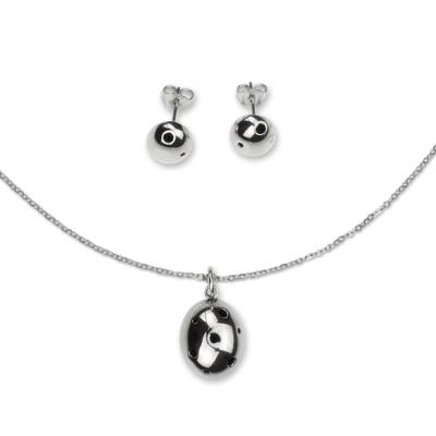 Taxco Silver Handcrafted Necklace and Earrings Jewelry Set
