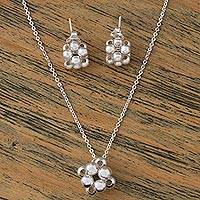 Sterling silver jewelry set, 'Heart Constellation' - Women's Heart Theme Sterling Silver Jewelry Set
