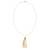 Gold plated cultured pearl pendant necklace, 'Pearl Tassel' - Cultured Pearl Necklace Crafted in Gold Plate with CZ (image 2d) thumbail