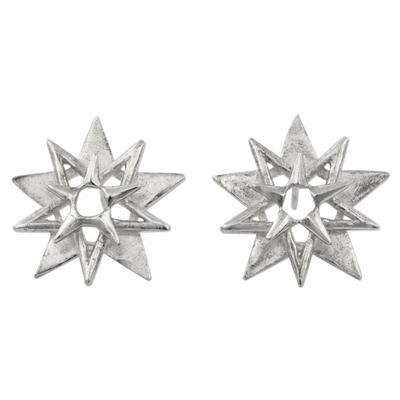 Three-dimensional 925 Sterling Silver Earrings
