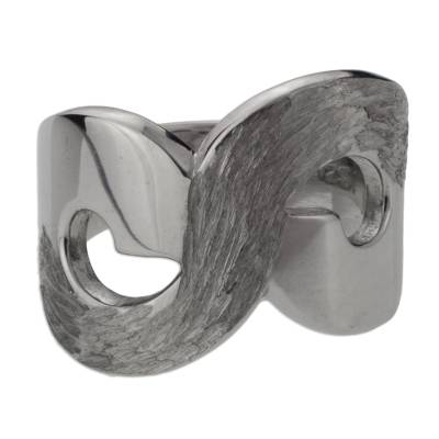Mexican Contemporary Sterling Silver Infinity Ring