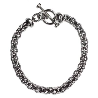 Mexican Sterling Silver Handcrafted Unisex Chain Bracelet